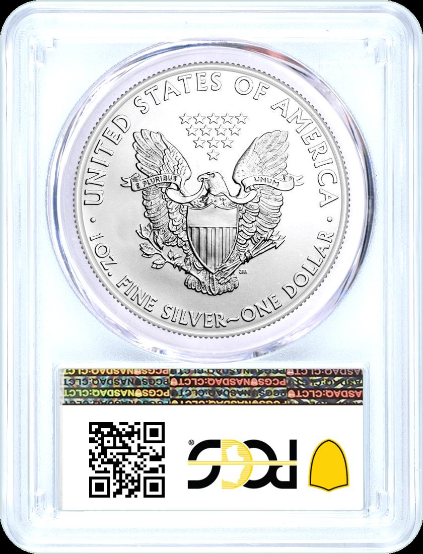 2002 $1 Silver Eagle PCGS MS70 Blue Label