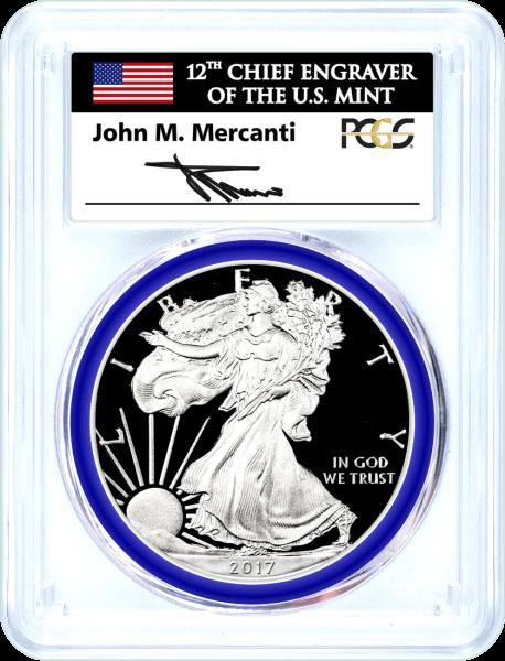 2017 W (2020) Silver Eagle W.P. Mint Hoard PCGS PR70 DCAM Mercanti Signed Mint Engraver Series