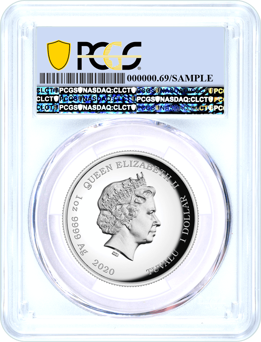 2020 Tuvalu $1 Silver High Relief James Bond 007 PCGS PR69 DCAM First Day of Issue Black Shield