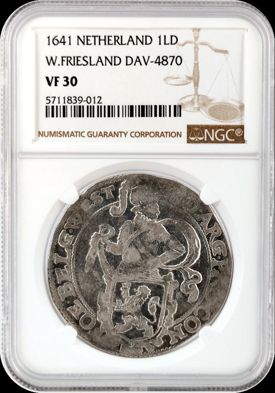 Netherlands 1LD Lion Dollar NGC VF30