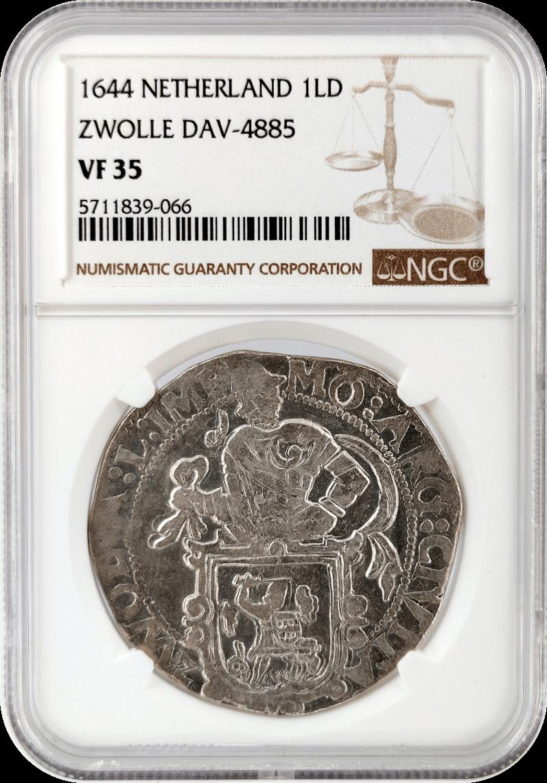 Netherlands 1LD Lion Dollar NGC VF35