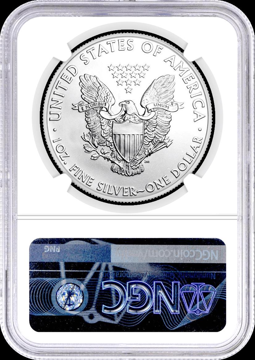 2016 (S) $1 Silver Eagle Struck at San Francisco NGC MS70 Mercanti Signed U.S. Mint Engraver Series